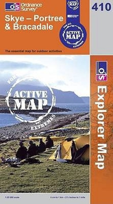 OS Explorer Active Map Skye Portree and Bracadale