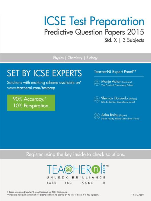 ICSE Test Preparation Predictive Question Papers: 3 Subjects