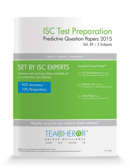 ISC Test Preparation Predictive Question Papers: 3 Subjects