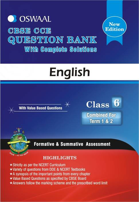 CBSE CCE Question Bank with Complete Solutions - English : Class 6