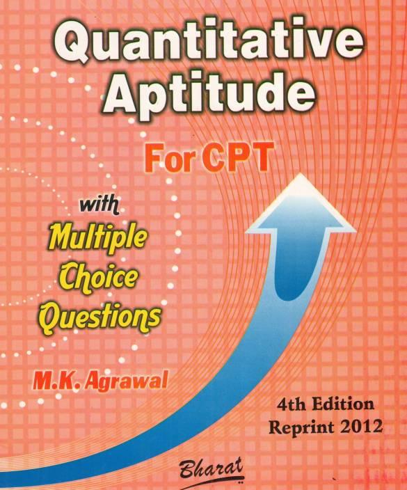 Quantitative aptitude with Multiple Choice Questions 4th  Edition