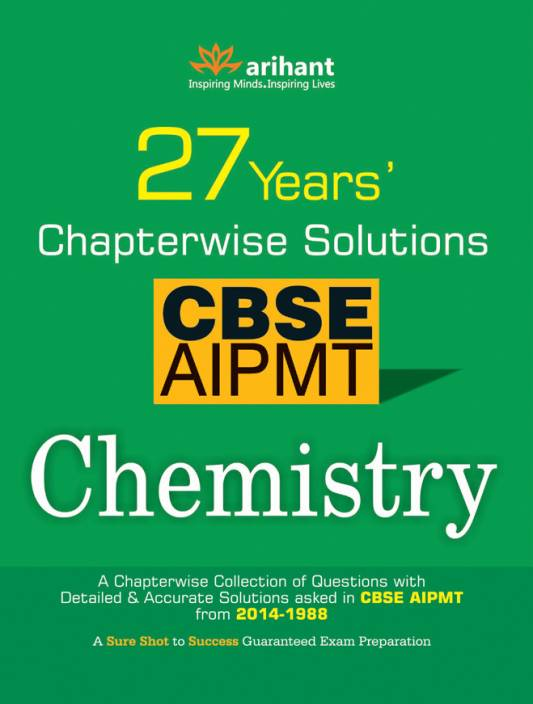 CBSE AIPMT Chemistry - 27 Years' Chapterwise Solutions 7th  Edition