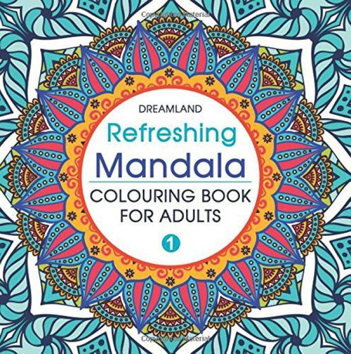 Refreshing Mandala Colouring Book For Adults Book 1