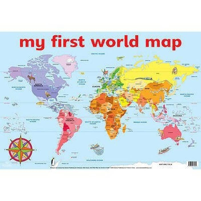 My first world map wall chart wall charts buy my first world my first world map wall chart wall charts gumiabroncs Images