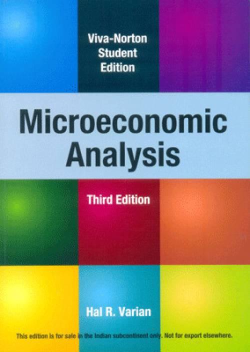 Microeconomic Analysis 3rd  Edition