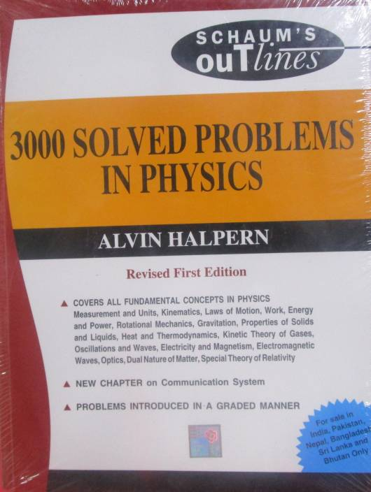 solved problems in physics st edition buy solved 3000 solved problems in physics 1st edition