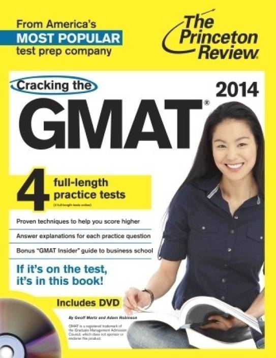 Cracking the GMAT with 4 Practice Tests & DVD, 2014 Edition