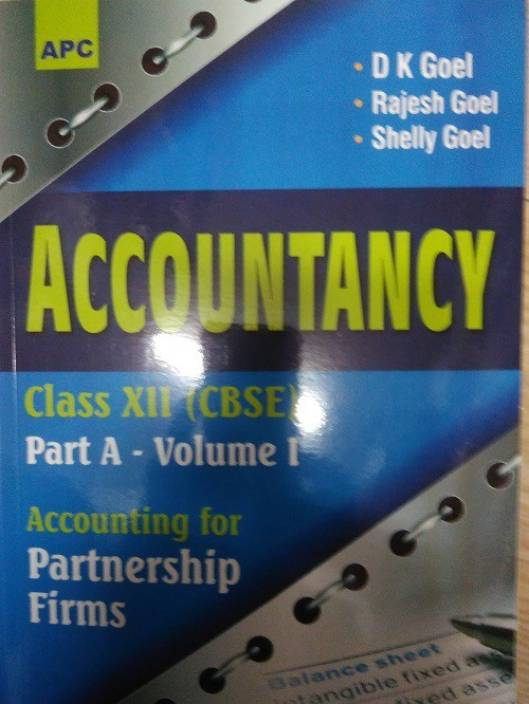 APC Accountancy Part A for Partnership Firms and Companies Class12
