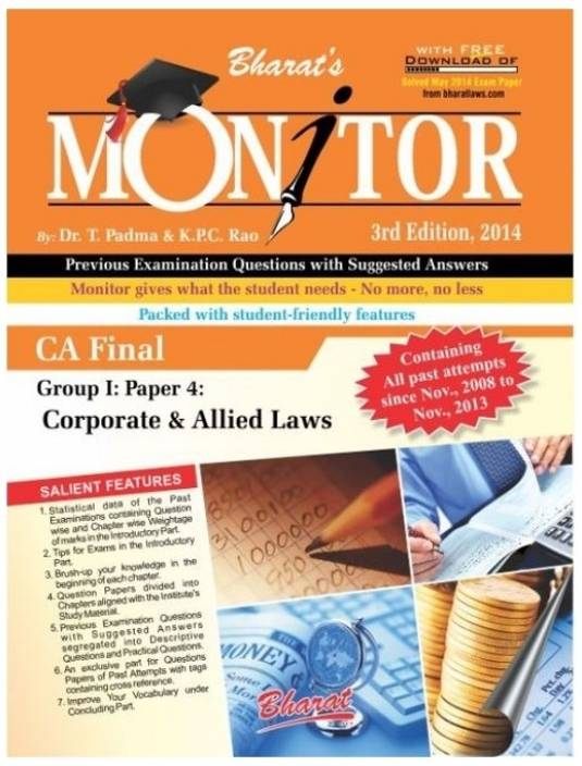 Monitor - CA Final Corporate & Allied Laws Group 1 Paper 4 3rd Edition