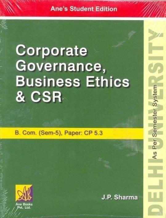 DU B COM (SEM-5): Corporate Governance, Business Ethics and