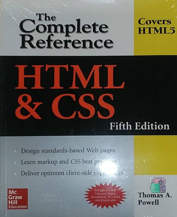 html & css the complete reference english 5th edition pdf