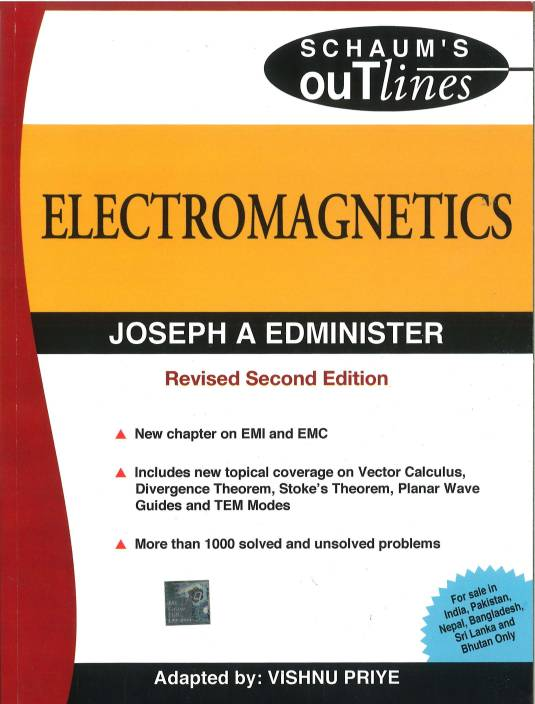 Electromagnetics Sie Schaums Outlines Series Revised 2nd Edition
