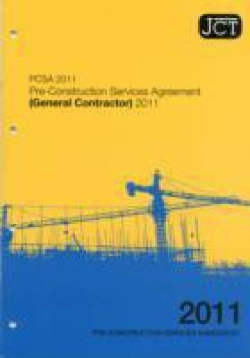 JCT: Pre-construction Services Agreement (general Contractor