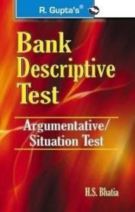 Bank Descriptive Test (Argumentative Questions/Situation Test) 01 Edition