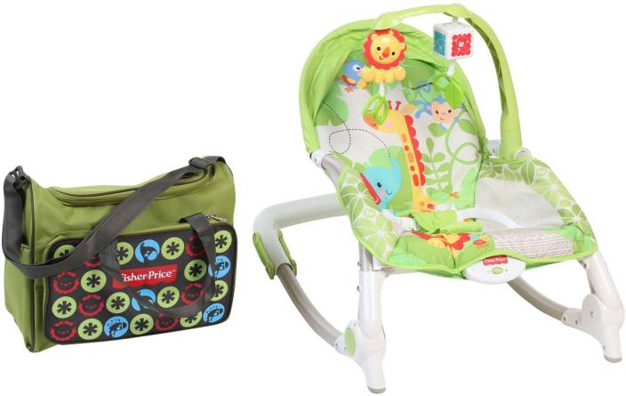 f9c27f6ce Fisher-Price Newborn to Toddler Portable Rocker Non-electric Bouncer ...