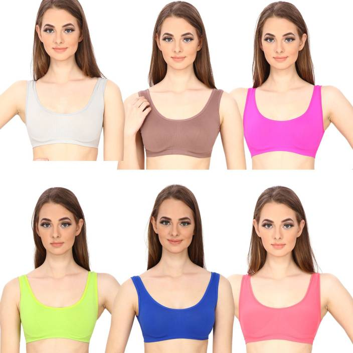 b67cb5263 Golden Girl by GOLDEN GIRL Women s Sports Non Padded Bra - Buy Multicolor  Golden Girl by GOLDEN GIRL Women s Sports Non Padded Bra Online at Best  Prices in ...