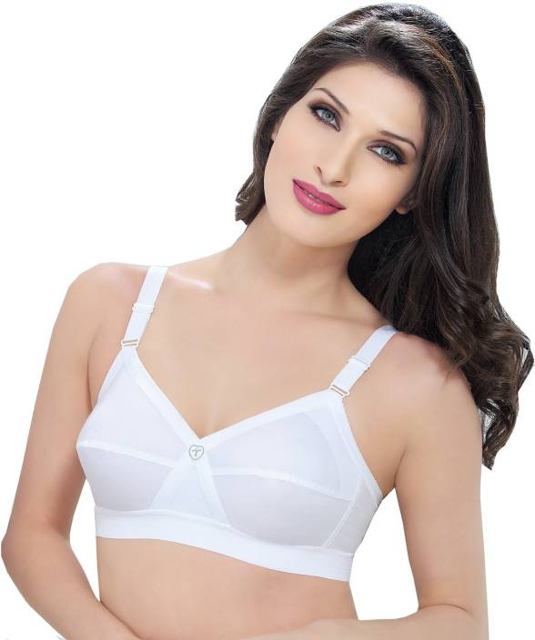 7dd7c7e8f4aa0 Trylo Krutika Plain Women s Full Coverage Bra - Buy White Trylo ...