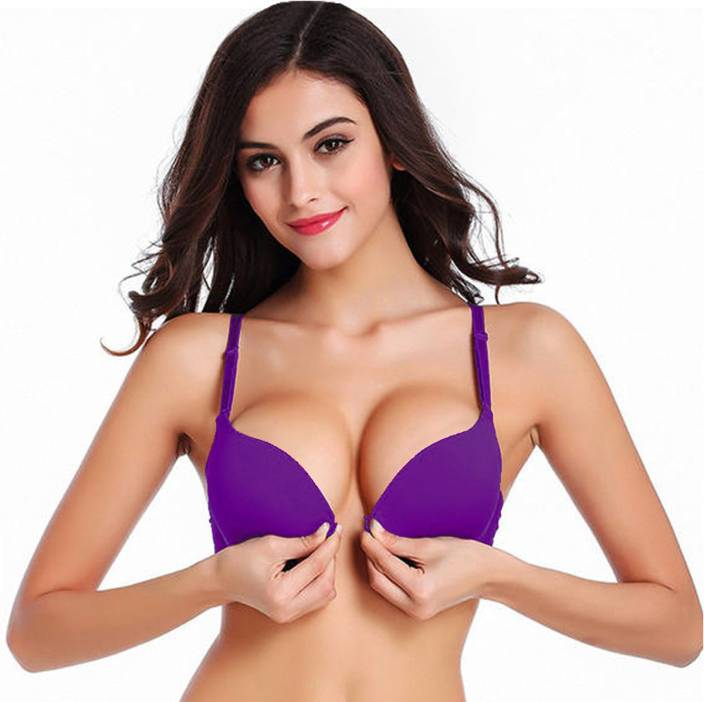 b0cdbce819e96 PrettyCat Women Push-up Heavily Padded Bra - Buy Purple PrettyCat ...