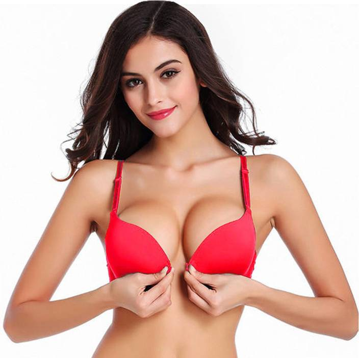 f456e4706d PrettyCat Women s Push-up Heavily Padded Bra - Buy Red PrettyCat ...