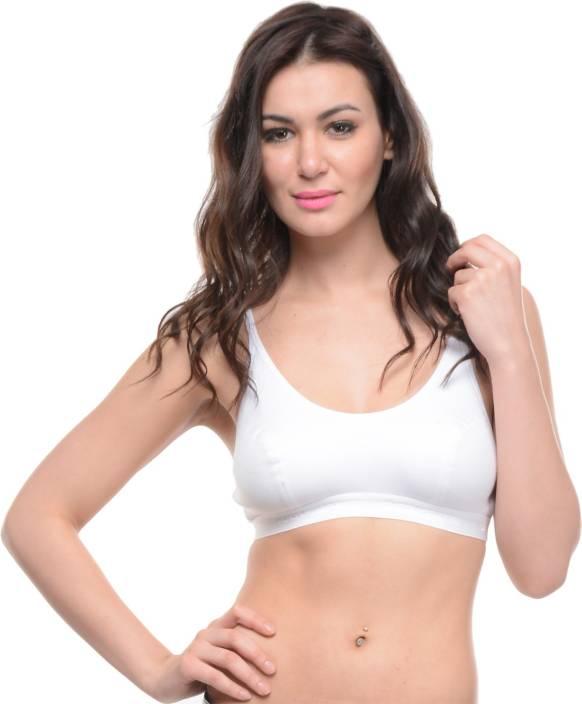 81b0d7f886 BodyCare Women s Sports Bra Buy White BodyCare Women s Sports Bra Online at  Best Prices in. BodyCare Women s. Triumph Cotton Lace Comfort Non ...