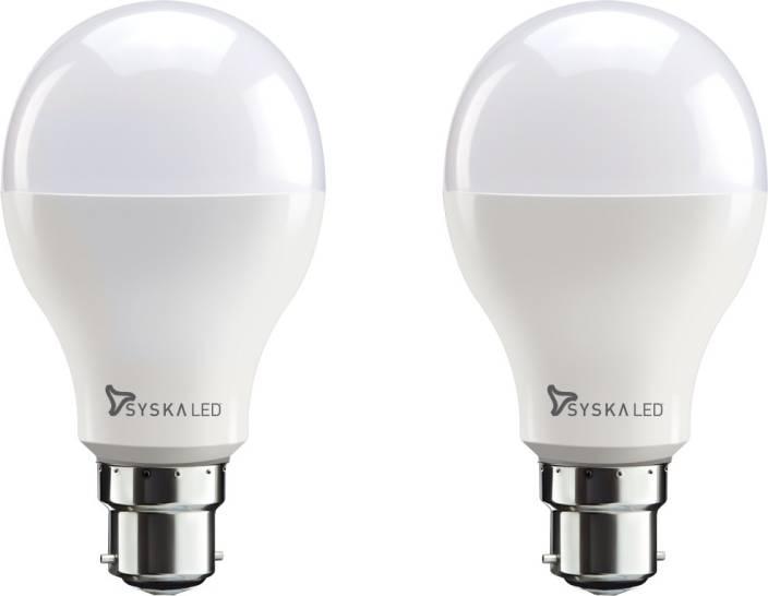 Syska Led Lights 18 W Standard B22 Bulb White Pack Of 2