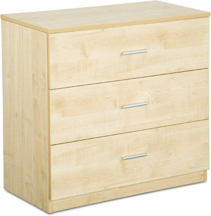 Delite Kom Three Drawer Chester Engineered Wood Free Standing Chest