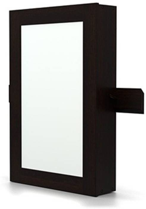Wall Mirror With Storage urban ladder ibex wall mirror with storage solid wood wall mount