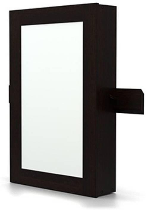 Wall Mirror With Storage urban ladder ibex wall mirror with storage solid wood wall mount
