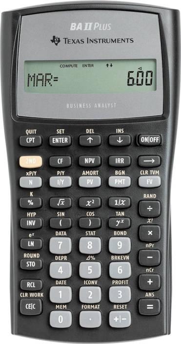 Flipkart.com | Texas Instruments BA II Plus BA II Plus Financial Calculator - Financial