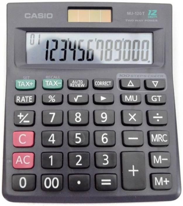 Casio MJ-120T MJ-120T-w Basic Calculator (12 Digit)