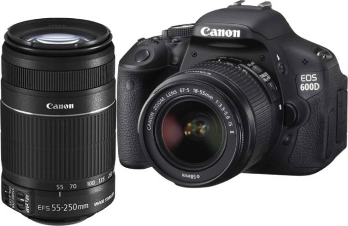 Canon EOS 600D (Body with EF-S 18-55 mm IS II & EF-S 55-250 mm IS II  Lenses) DSLR Camera