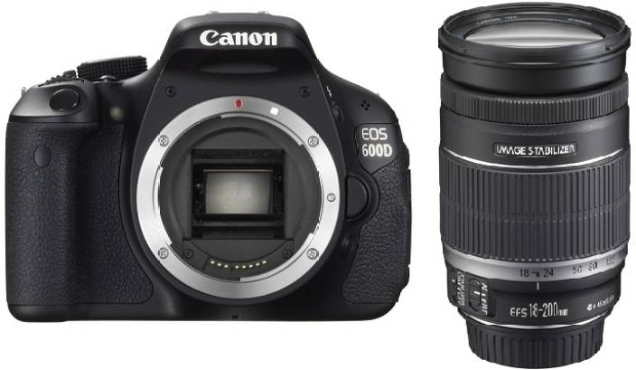 Canon EOS 600D (Body with EF-S 18-200 mm IS III Lens) DSLR Camera