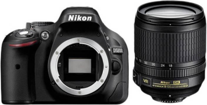Nikon D5200 (Body with AF-S 18-105 mm VR Lens) DSLR Camera (Body only)