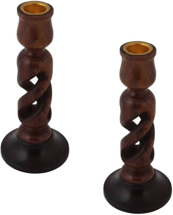 Onlineshoppee Wooden Tealight Holder Set