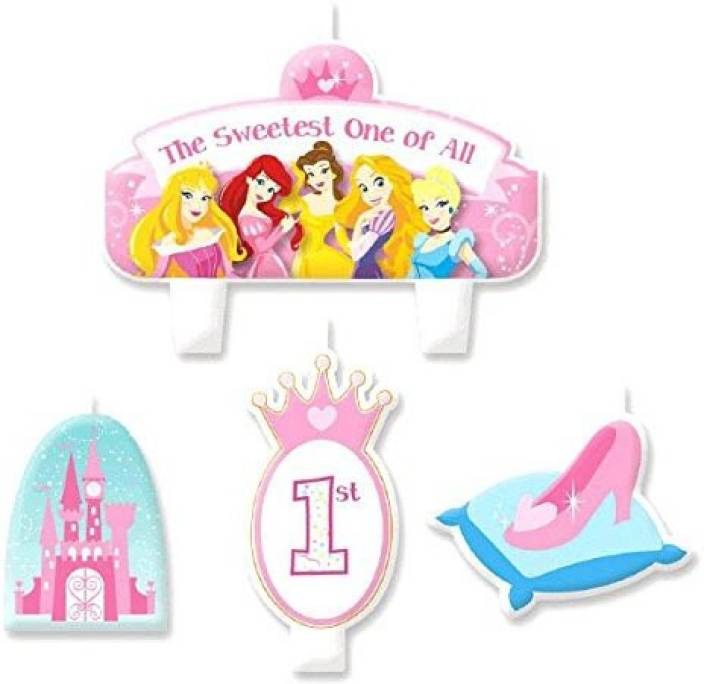 Amscan Disney Princess 1st Birthday Molded Cake Candle Se Multicolor Pack Of 1
