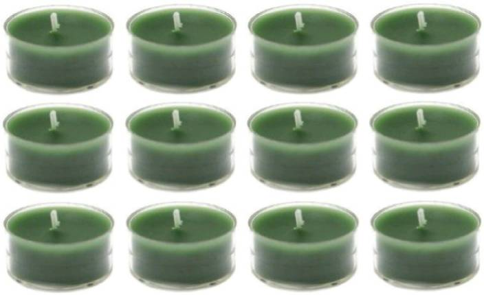 Madhulica Candles Green Tea Light Pack Of 12pcs Candle 12