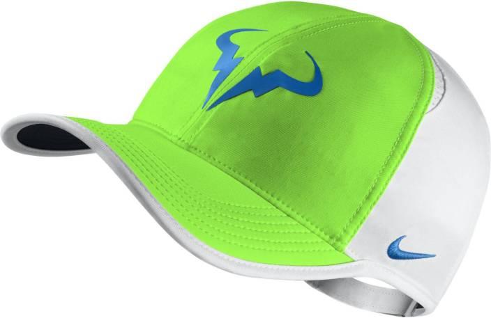 Nike Rafa Bull Premier FeatherLight Solid Tennis Cap - Buy Green ... 7820fdae2e9