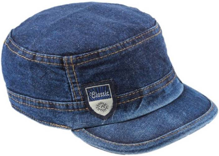 Friendskart Self Design Skull Blue Jeans Cap