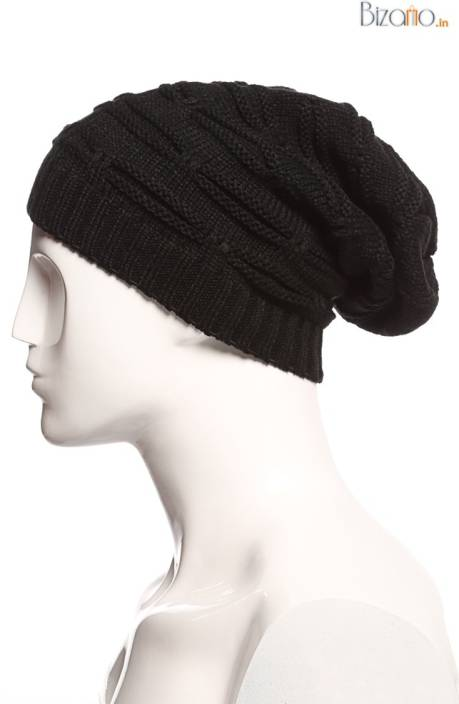 Bizarro.in Embellished Beanies Cap - Buy Black Bizarro.in ... 90b6d79cb1