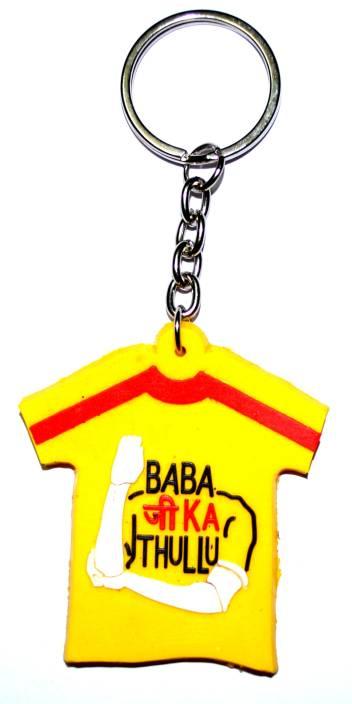 Pin to Pen Baba ji ka Thullu Rubber keychain Yellow Key Chain - Buy