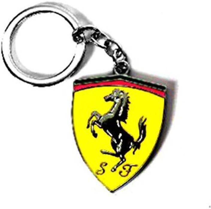 99DailyDeals R45 Keychain FERRARI Logo Metal Keyring Key