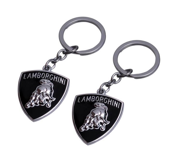 Parrk Combo Of 2 Lamborghini Logo Metal Key Chain Buy Parrk Combo