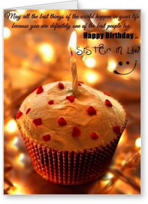Lolprint Happy Birthday Sister In Law Greeting Card Price In India