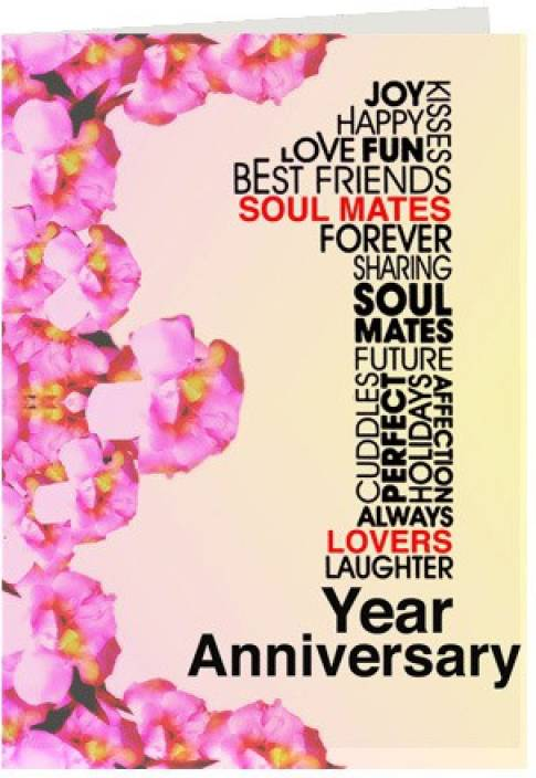 Gifts By Meeta First Anniversary Wishes Greeting Card