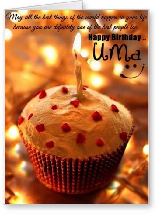 Lolprint Happy Birthday Uma Greeting Card Price In India Buy
