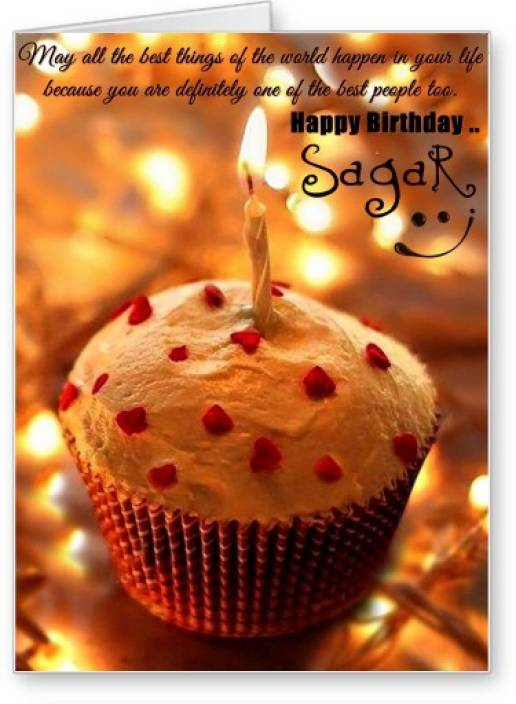 Lolprint Happy Birthday Sagar Greeting Card Price in India - Buy