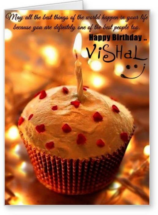 Lolprint Happy Birthday Vishal Greeting Card Price In India Buy