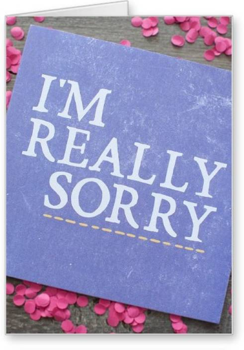 lolprint i am really sorry greeting card price in india buy