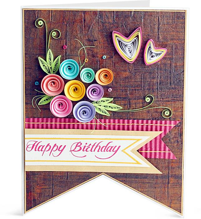 Handcrafted Emotions Handmade Birthday Greeting Card Multicolor Pack Of 1