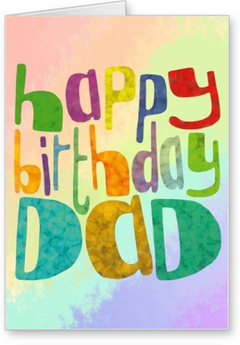 Lolprint Dad Happy Birthday Greeting Card Multicolor Pack Of 1